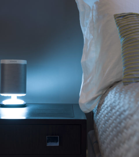 Flexson Sonos Play:1 Desktop Illuminated Stand White
